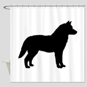 Siberian Husky Dog Breed Shower Curtain