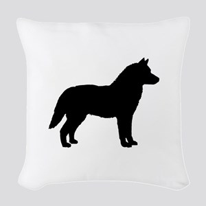 Siberian Husky Dog Breed Woven Throw Pillow