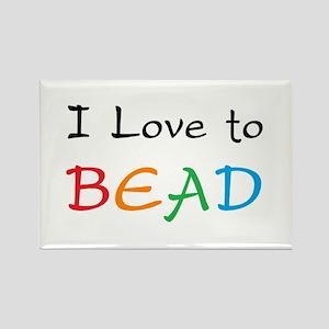 love bead Rectangle Magnet