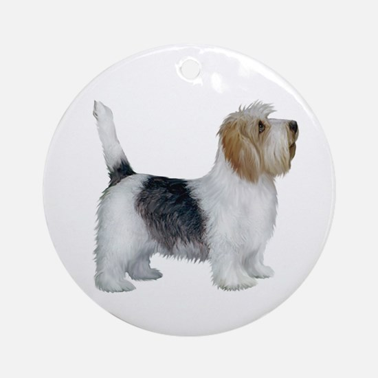 Petit Bassett (stand) Ornament (round)