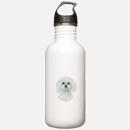 Maltese Portrait Water Bottle