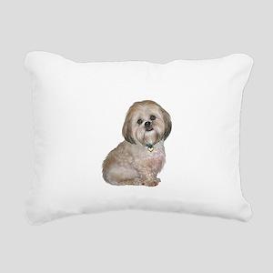 Lhasa Apso (L) Rectangular Canvas Pillow