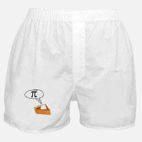 Pumpkin Pie Pi Math Humor Boxer Shorts