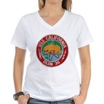 USS CALIFORNIA Women's V-Neck T-Shirt