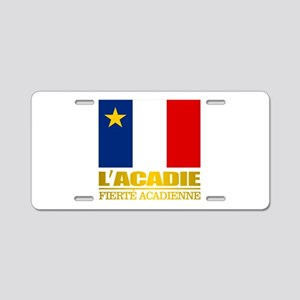 Acadian Flag Aluminum License Plate