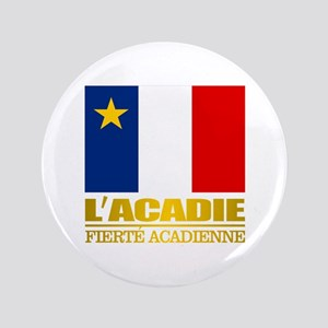 "Acadian Flag 3.5"" Button"