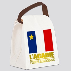 Acadian Flag Canvas Lunch Bag
