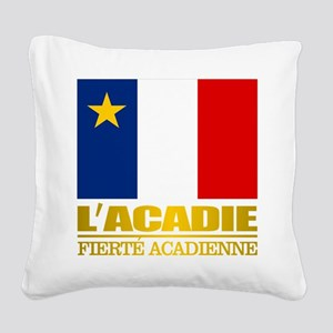 Acadian Flag Square Canvas Pillow