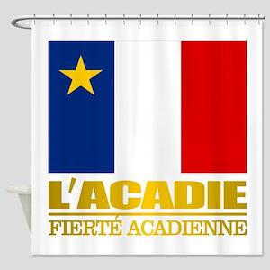 Acadian Flag Shower Curtain