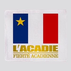 Acadian Flag Throw Blanket
