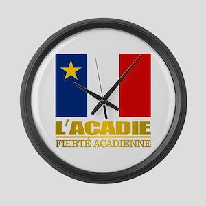 Acadian Flag Large Wall Clock