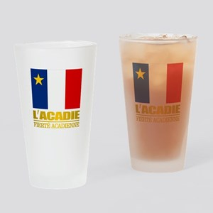 Acadian Flag Drinking Glass