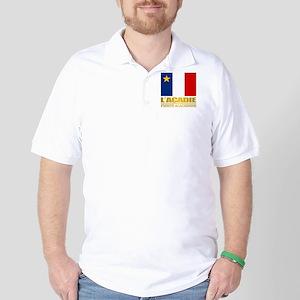Acadian Flag Golf Shirt