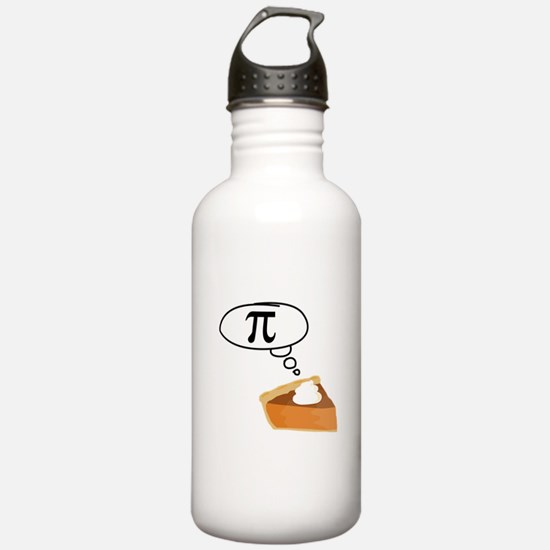 Pumpkin Pie Pi Math Humor Water Bottle