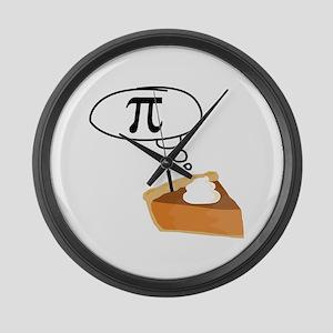 Pumpkin Pie Pi Math Humor Large Wall Clock