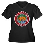 USS CALIFORN Women's Plus Size V-Neck Dark T-Shirt