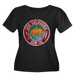 USS CALI Women's Plus Size Scoop Neck Dark T-Shirt