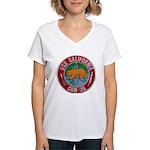 USS CALIFORNIA Women's V-Neck T-Shirt