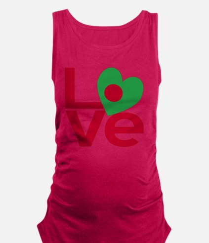 Red Bangladesh LOVE Maternity Tank Top