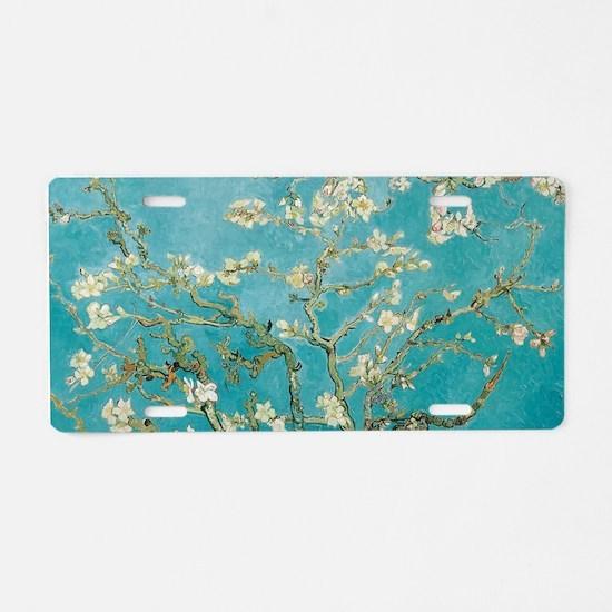van gogh almond blossoms Aluminum License Plate