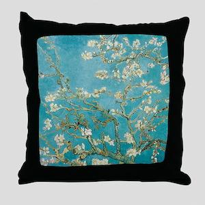 van gogh almond blossoms Throw Pillow