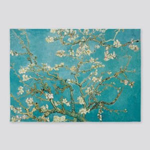 van gogh almond blossoms 5'x7'Area Rug