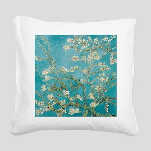 van gogh almond blossoms Square Canvas Pillow