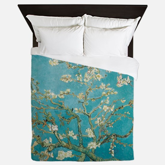 van gogh almond blossoms Queen Duvet