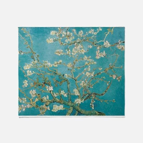 van gogh almond blossoms Throw Blanket