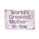 World's Greatest Mother-in-Law Rectangle Magnet (1