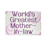 World's Greatest Mother-in-Law Rectangle Magnet