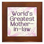 World's Greatest Mother-in-Law Framed Tile