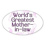 World's Greatest Mother-in-Law Sticker (Oval)
