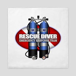 Resuce Diver (Scuba Tanks) Queen Duvet