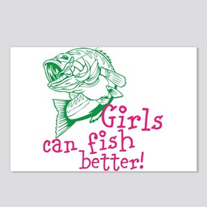 Girls can Fish Better Postcards (Package of 8)