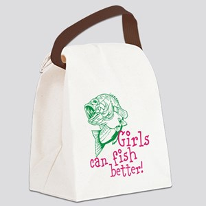 Girls can Fish Better Canvas Lunch Bag