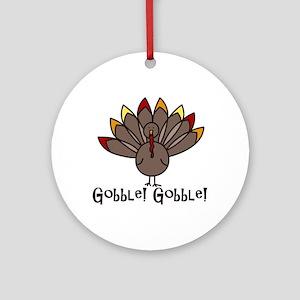Gobble! Gobble! Ornament (Round)