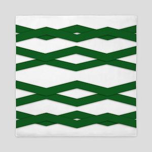 Green Zigzag Queen Duvet