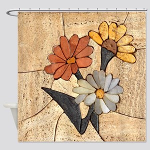 Three Flowers Shower Curtain