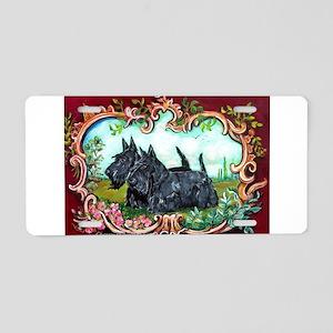Scottish Terrier Pair Aluminum License Plate