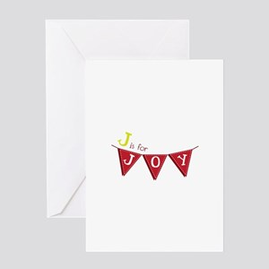 J For Joy Greeting Cards