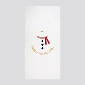 Frosty The Snowman Beach Towel