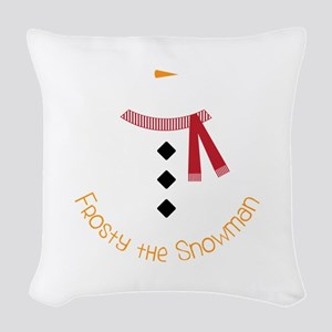 Frosty The Snowman Woven Throw Pillow