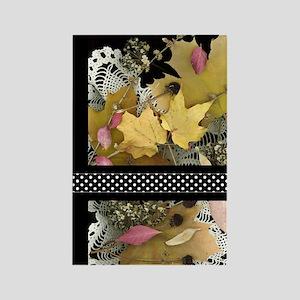 Vintage Autumn Leaves Rectangle Magnet