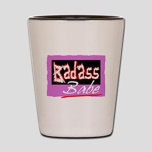 Badass Babe Shot Glass