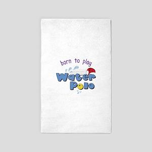 Born To Play 3'x5' Area Rug