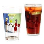 Dip Warning Drinking Glass