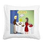 Dip Warning Square Canvas Pillow