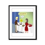 Dip Warning Framed Panel Print