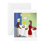 Dip Warning Greeting Cards (Pk of 10)